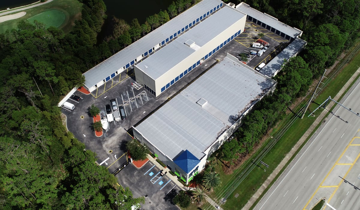 aerial view at Midgard Self Storage in Bradenton, FL