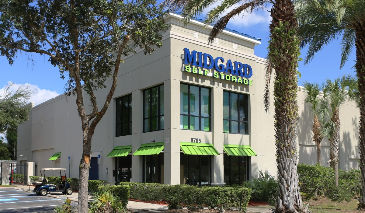 Exterior view at Midgard Self Storage in Bradenton, FL