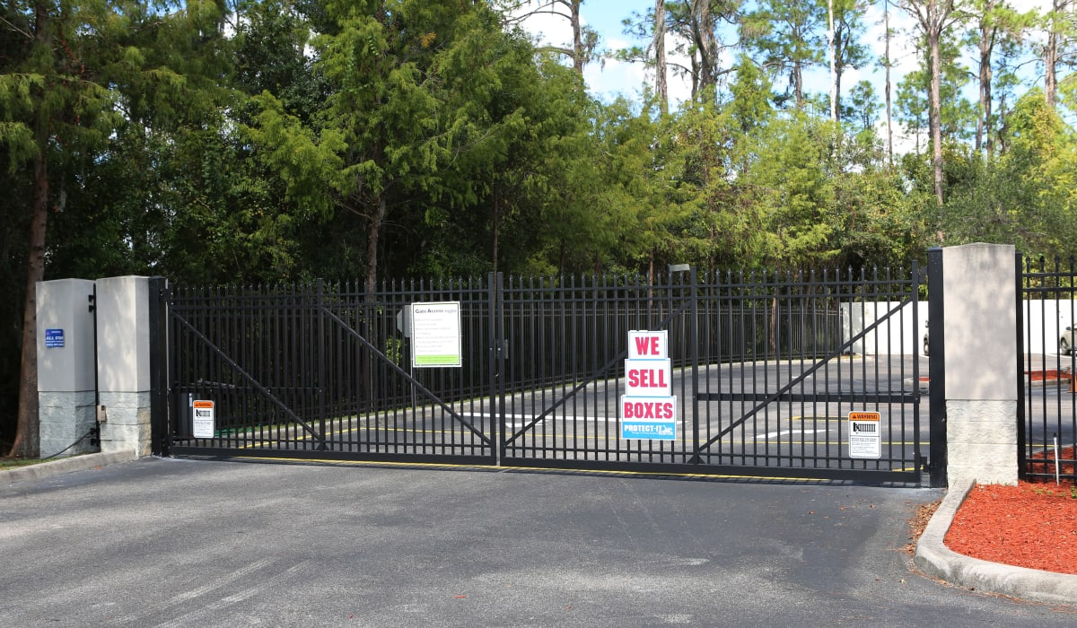 Security gate at Midgard Self Storage in Bradenton, FL