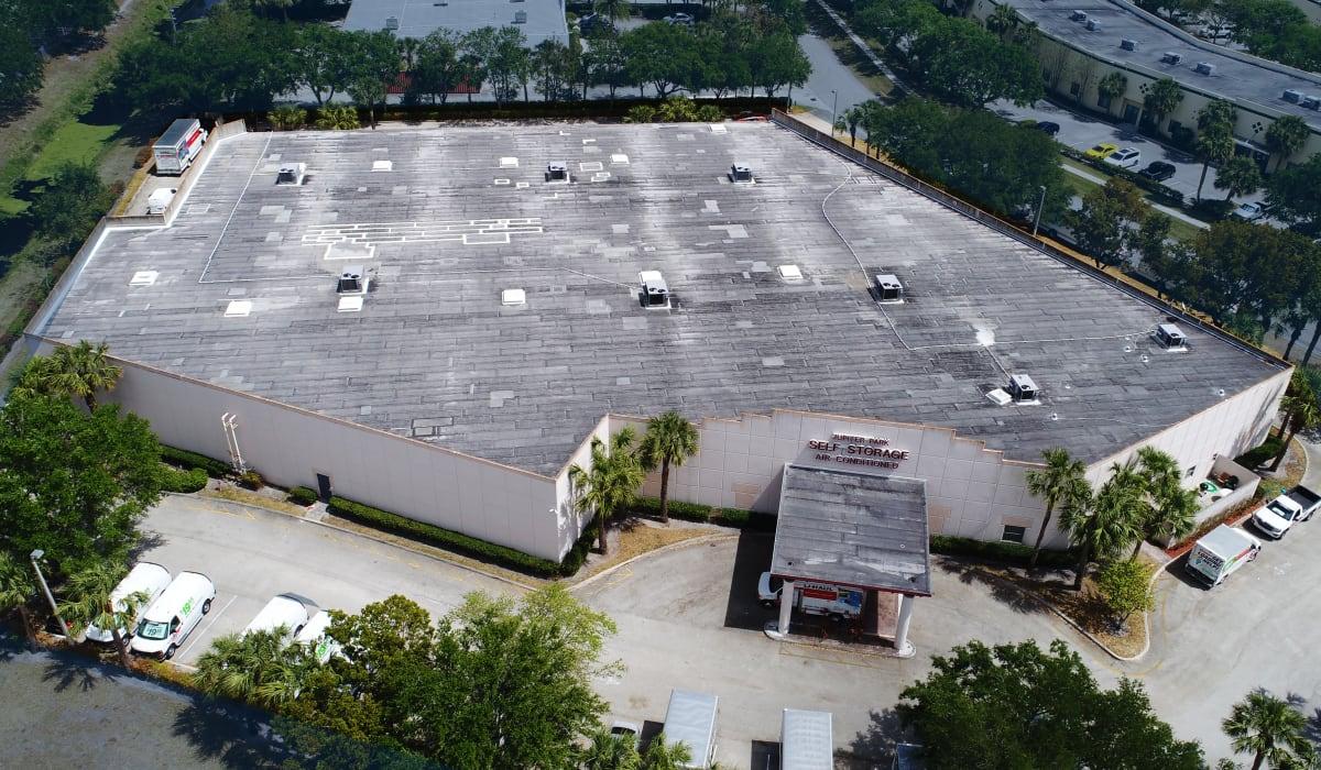 Aerial view at Jupiter Park Self Storage in Jupiter, FL