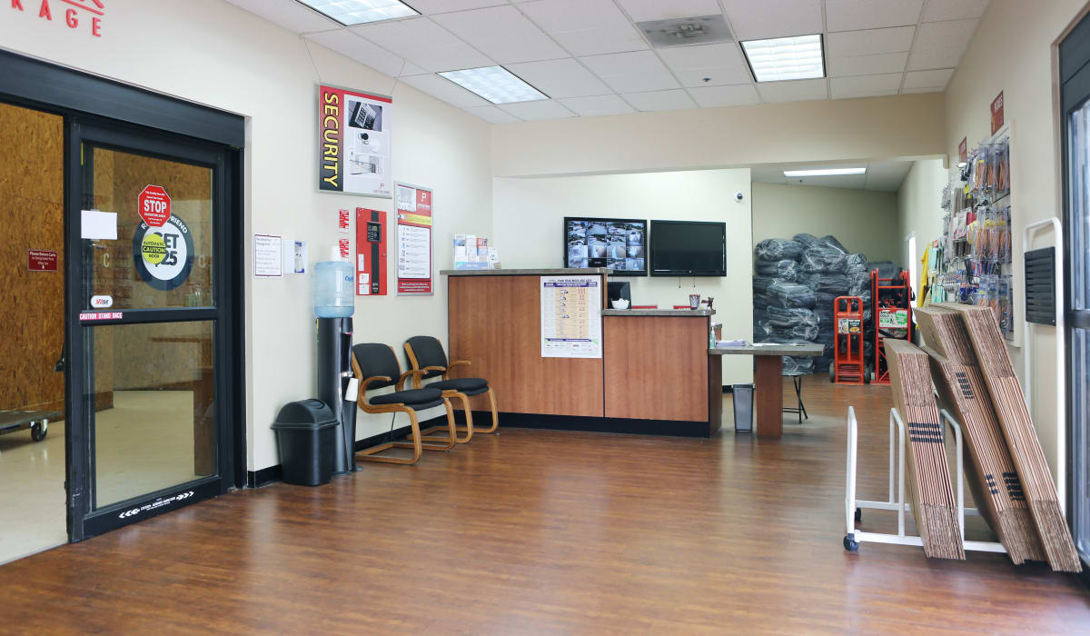 Leasing office at Jupiter Park Self Storage in Jupiter, FL