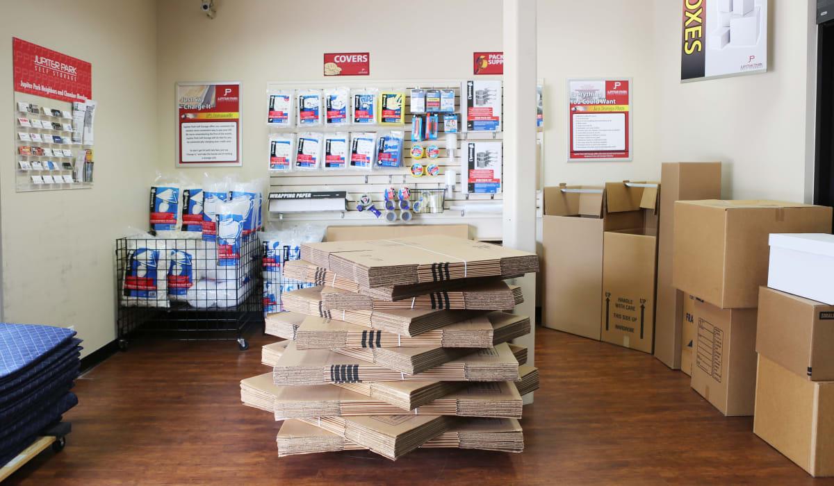 Packing supplies at Jupiter Park Self Storage in Jupiter, FL
