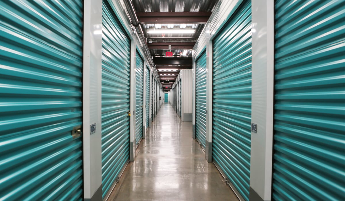 Interior units at Midgard Self Storage in Lutz, FL