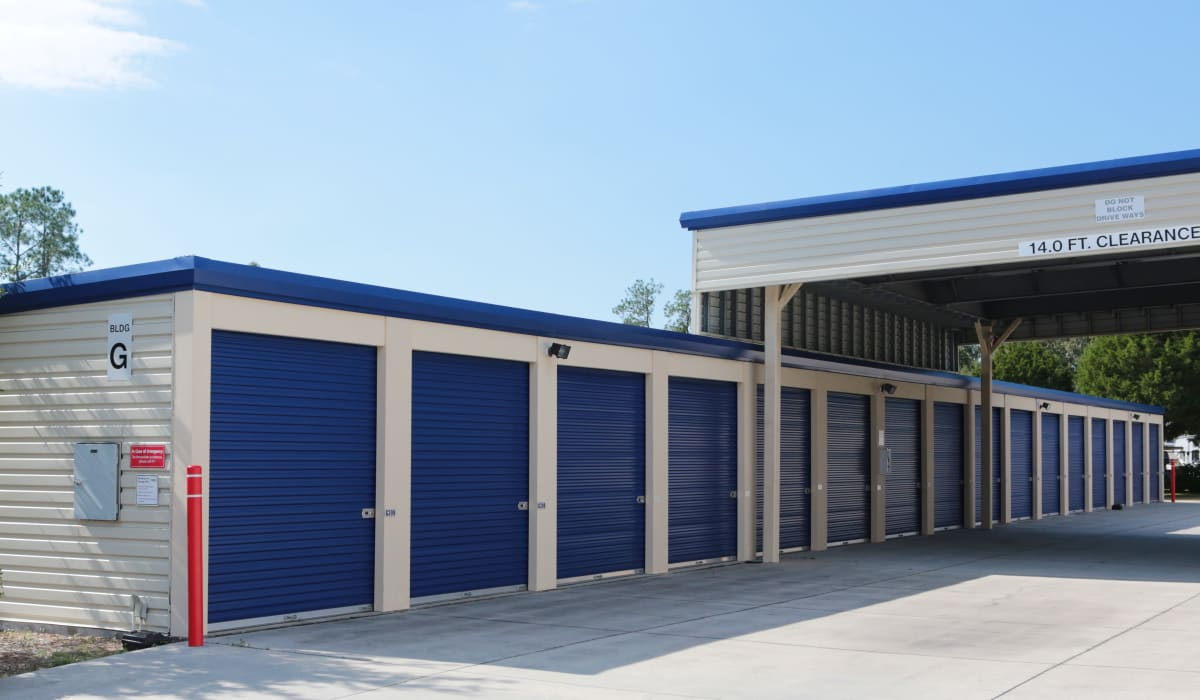 Exterior units at Midgard Self Storage in Lutz, FL