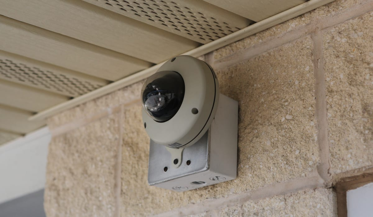 Security cameras at Midgard Self Storage in Lutz, FL