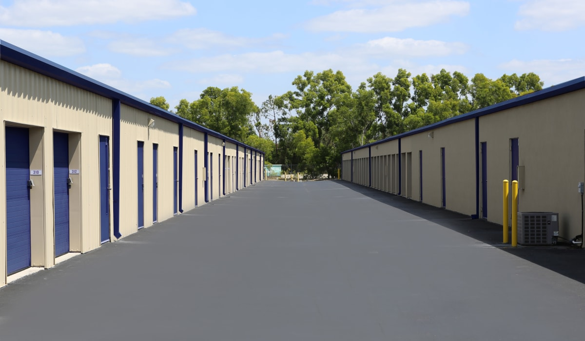 Exterior units at Midgard Self Storage in Naples, Florida