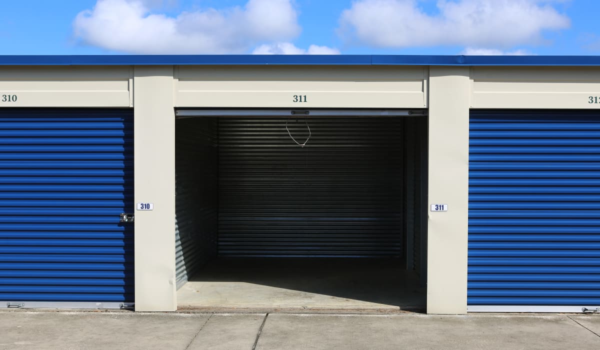 Roll up door at Midgard Self Storage in Newberry, FL