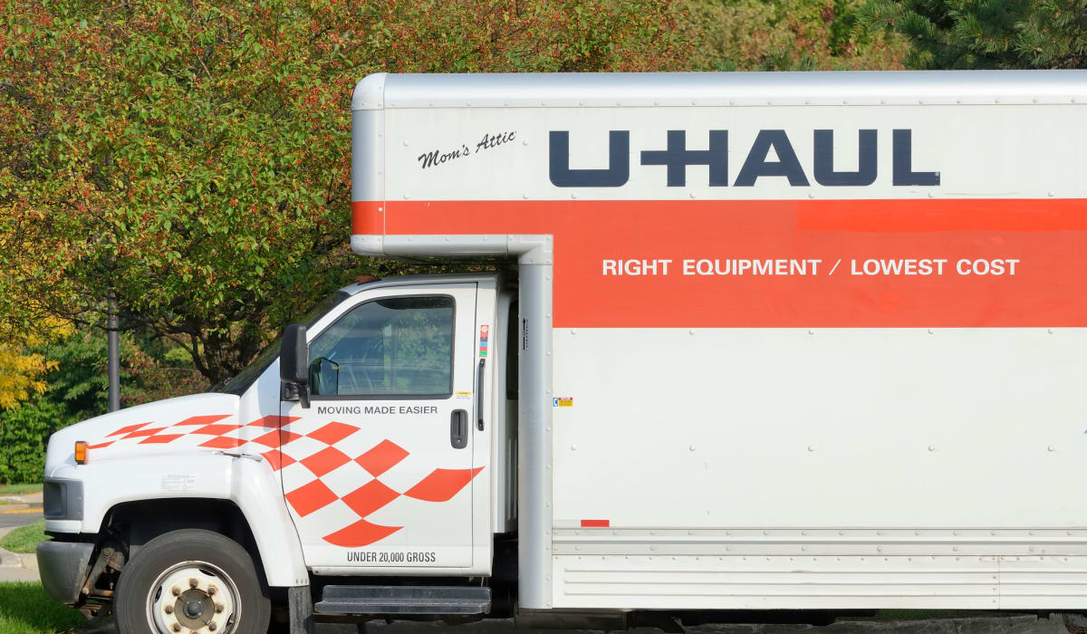 U-Haul trucks at Midgard Self Storage in Florence, Alabama