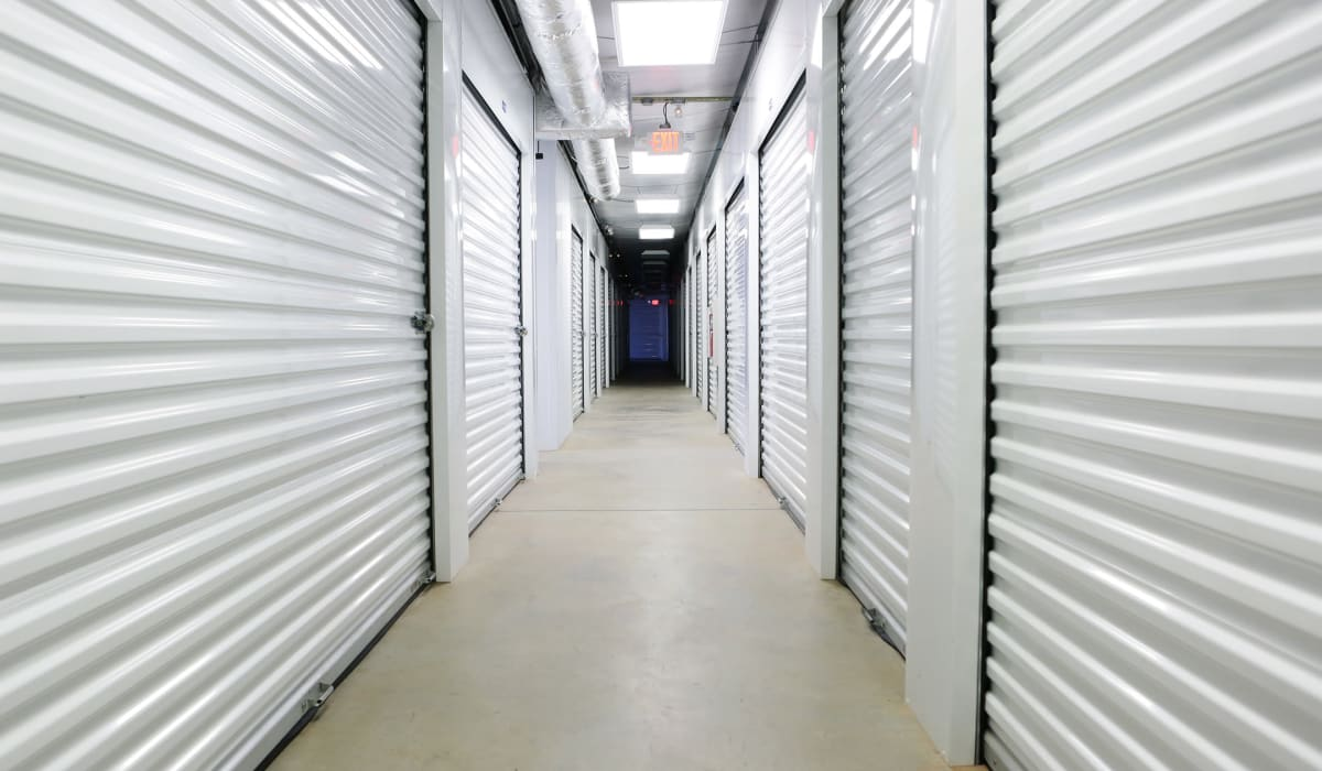 Climate-controlled storage at Midgard Self Storage in Florence, Alabama
