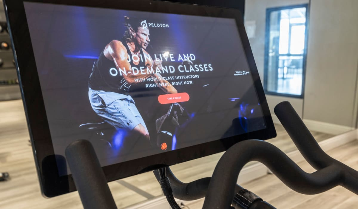 Tablet cycling classes at The Wayland in St Petersburg, Florida