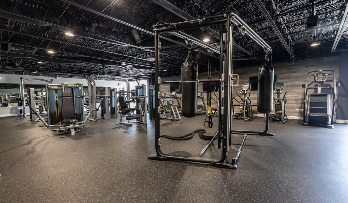 Well equipped fitness center at The Wayland in St Petersburg, Florida