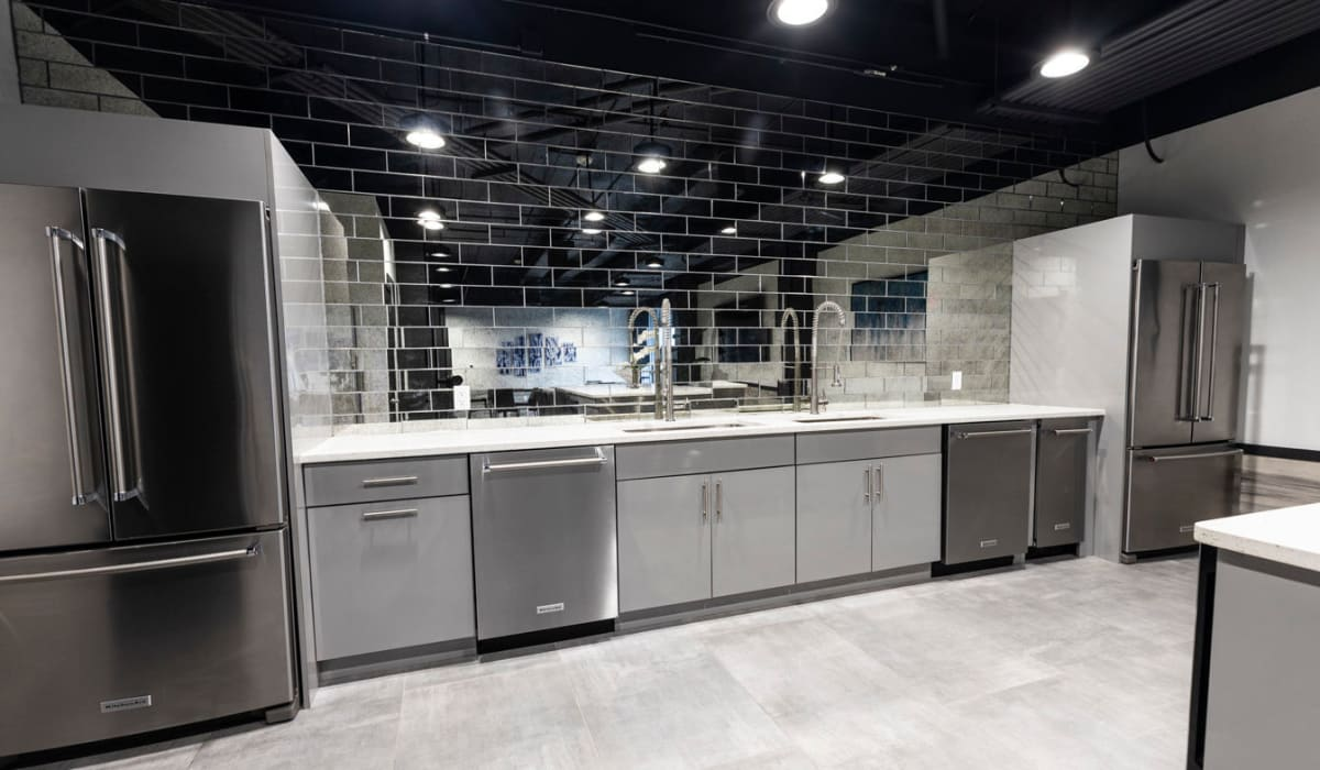 Resident clubhouse kitchen at The Wayland in St Petersburg, Florida
