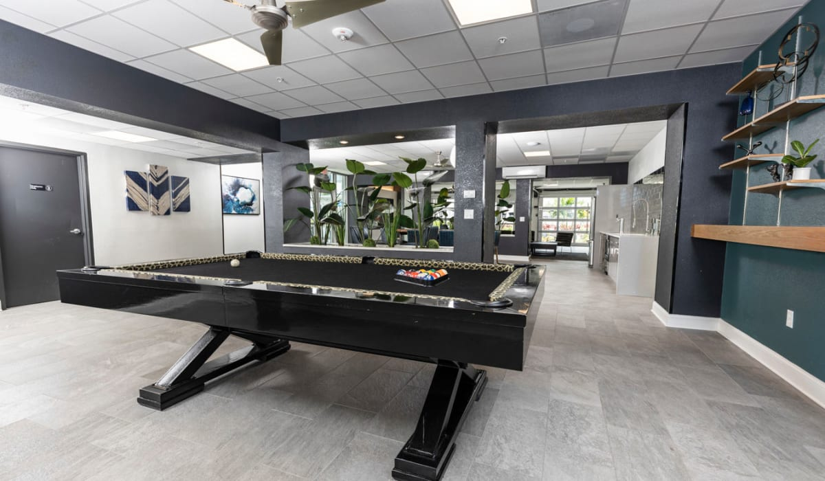 Billiards table for residential use at The Wayland in St Petersburg, Florida