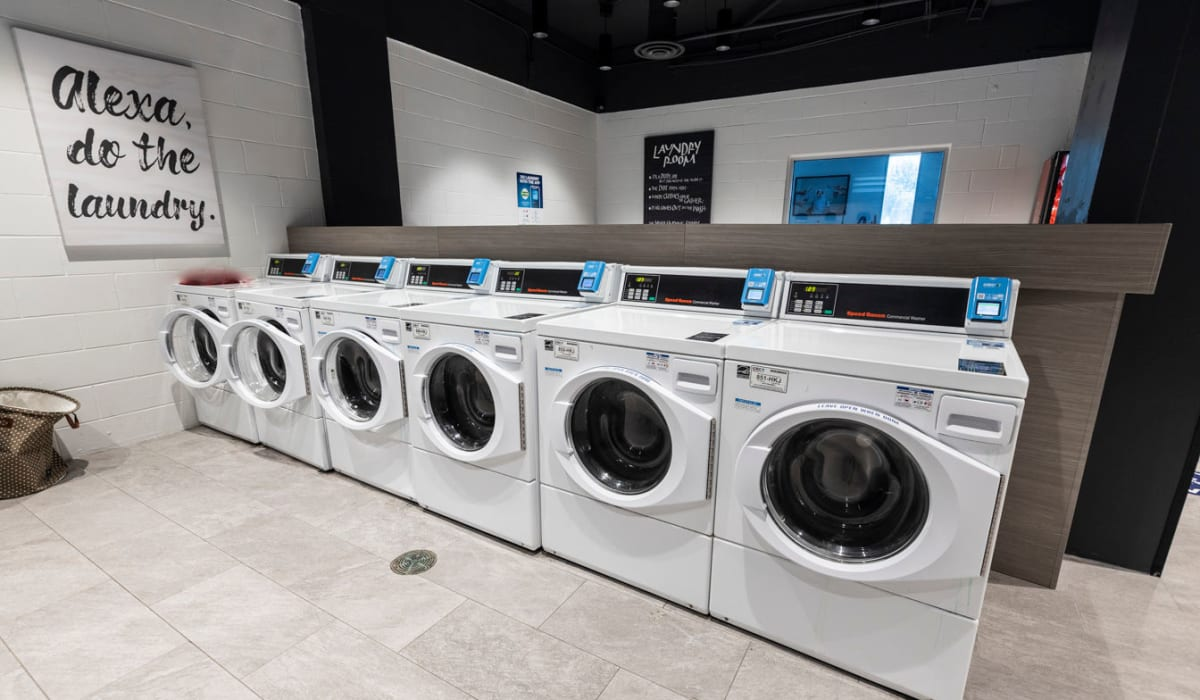 Washer and dryers for resident use at The Wayland in St Petersburg, Florida