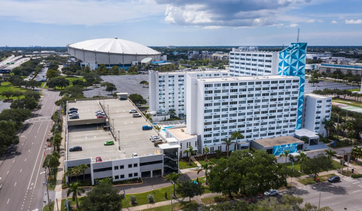 Aerial view of complex at The Wayland in St Petersburg, Florida