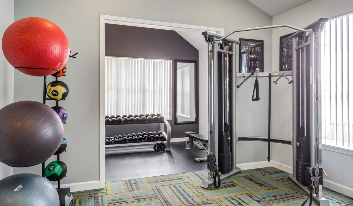 Gym area at Aberdeen Apartments in Lawrence, Kansas
