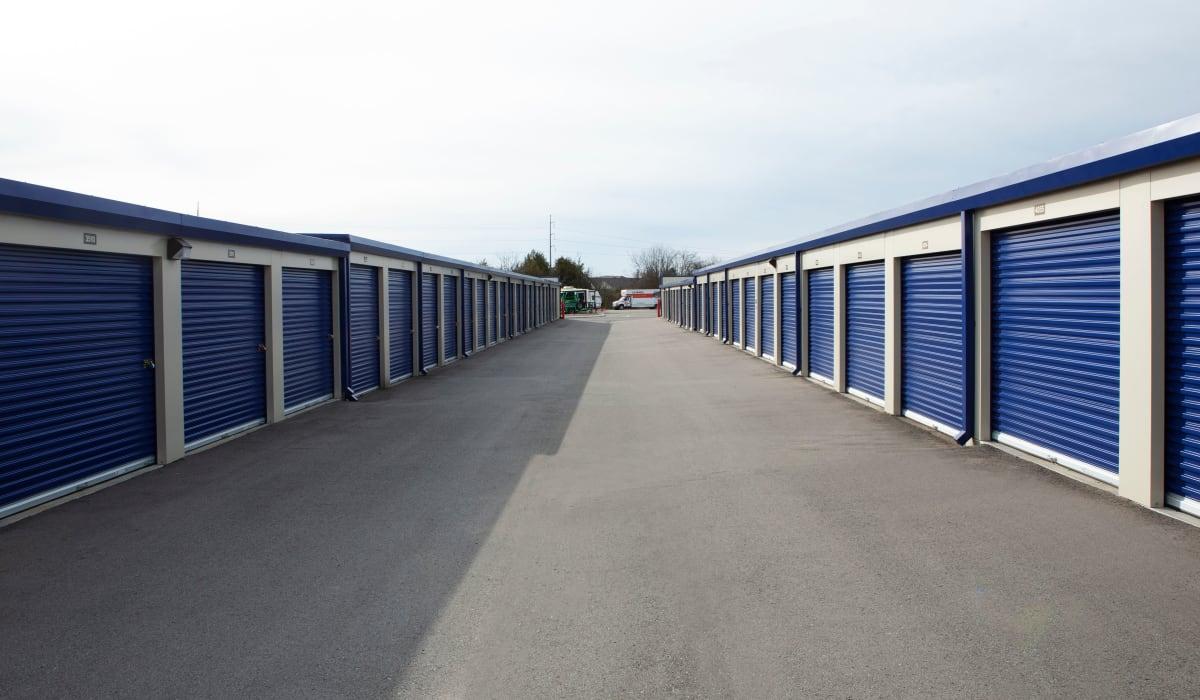 Outdoor storage units at Midgard Self Storage in Murfreesboro, TN