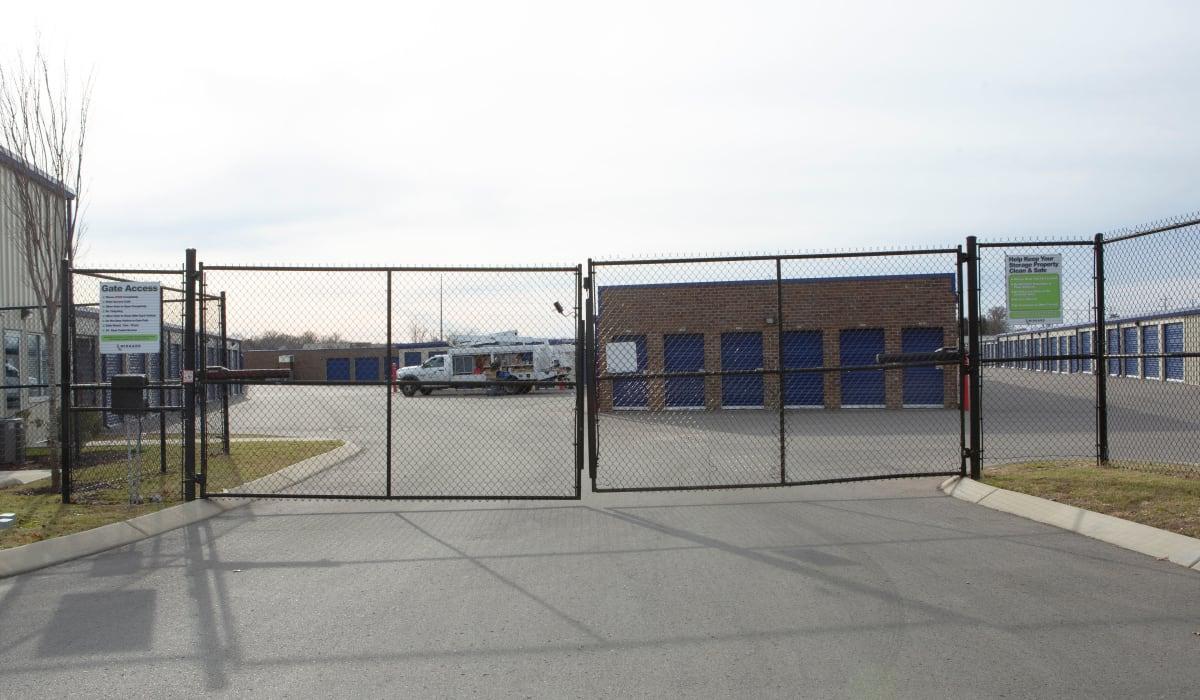 Security gate at Midgard Self Storage in Murfreesboro, TN