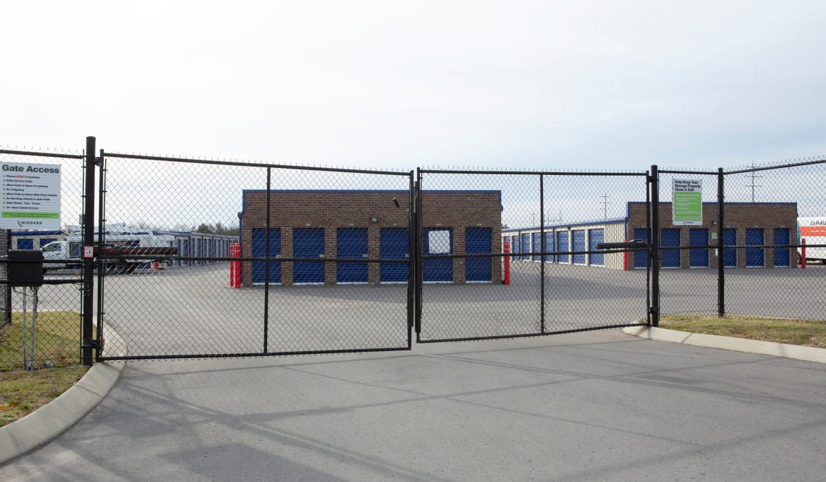 Entry gate at Midgard Self Storage in Murfreesboro, TN