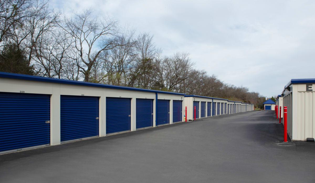 Outdoor units at Midgard Self Storage in Murfreesboro, TN