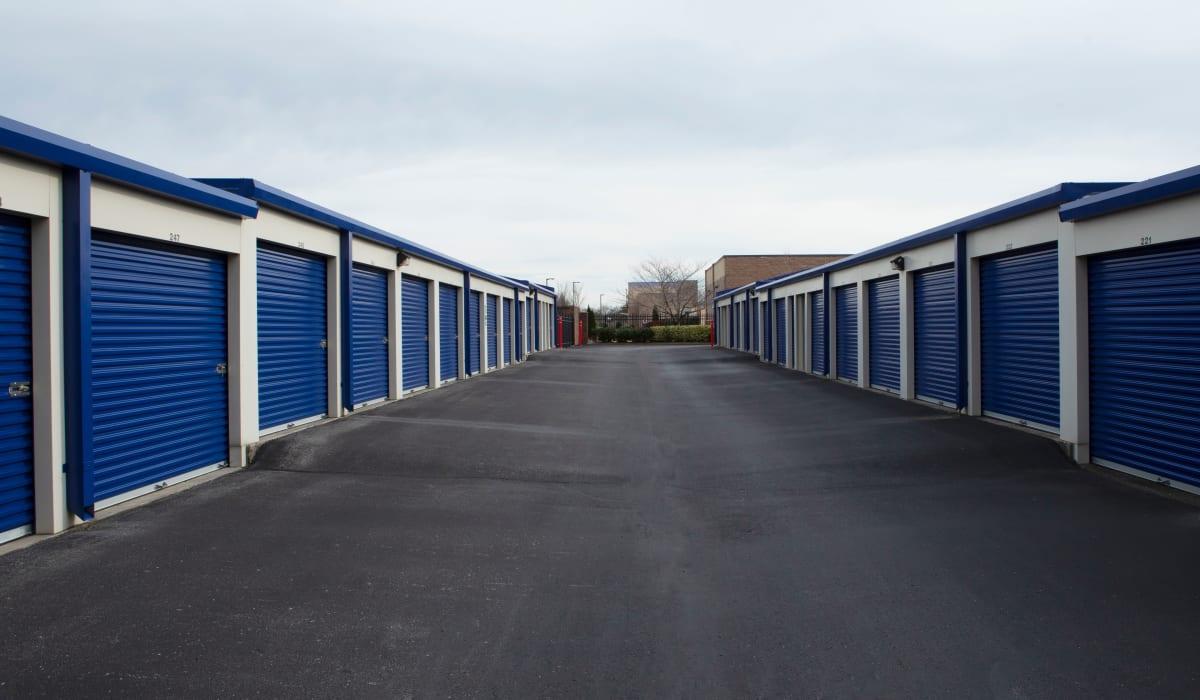 Drive up storage units at Midgard Self Storage in Murfreesboro, TN
