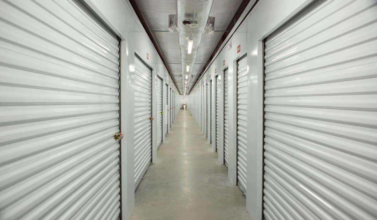 Indoor storage units at Midgard Self Storage in Murfreesboro, TN