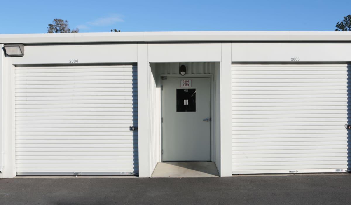 Secure door to indoor storage at Midgard Self Storage in Wilmington, North Carolina