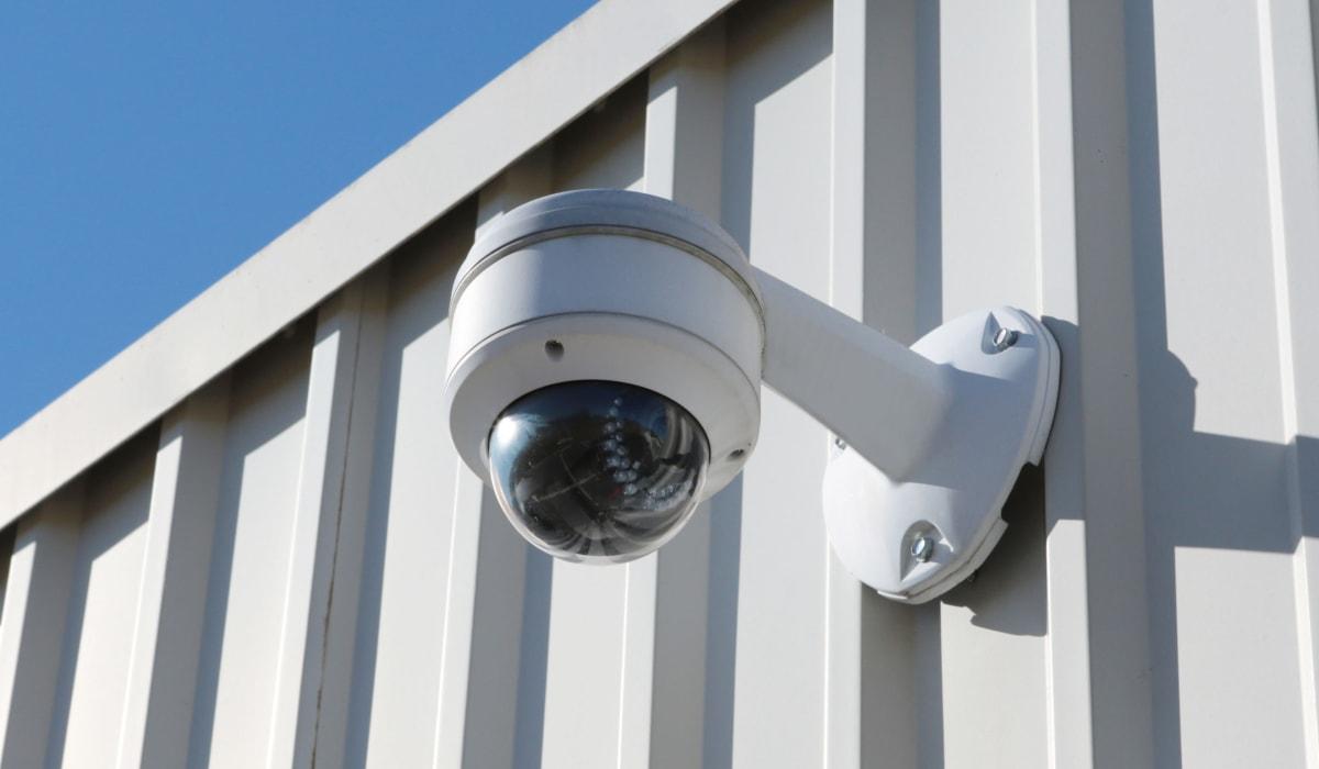 Security camera at Midgard Self Storage in Eastanollee, Georgia