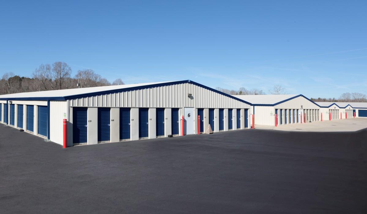 External units of Midgard Self Storage in Eastanollee, Georgia