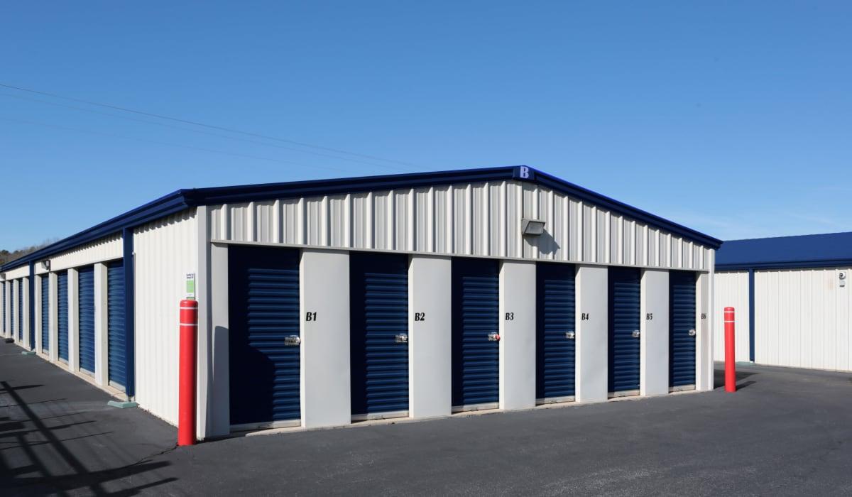 External storage units at Midgard Self Storage in Eastanollee, Georgia