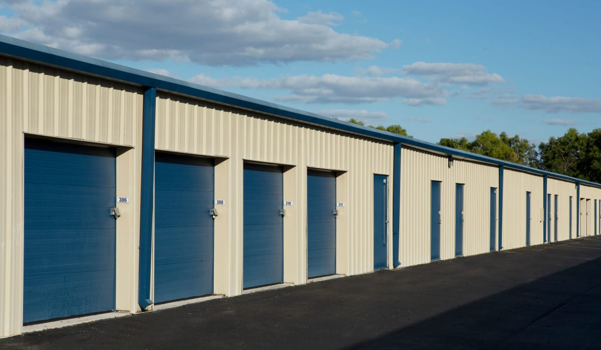 Drive up units at Midgard Self Storage in Naples, FL