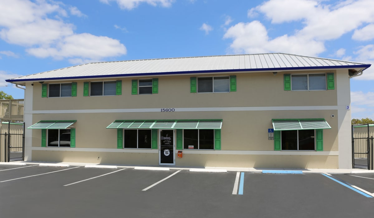 View of the facility at Midgard Self Storage in Naples, FL