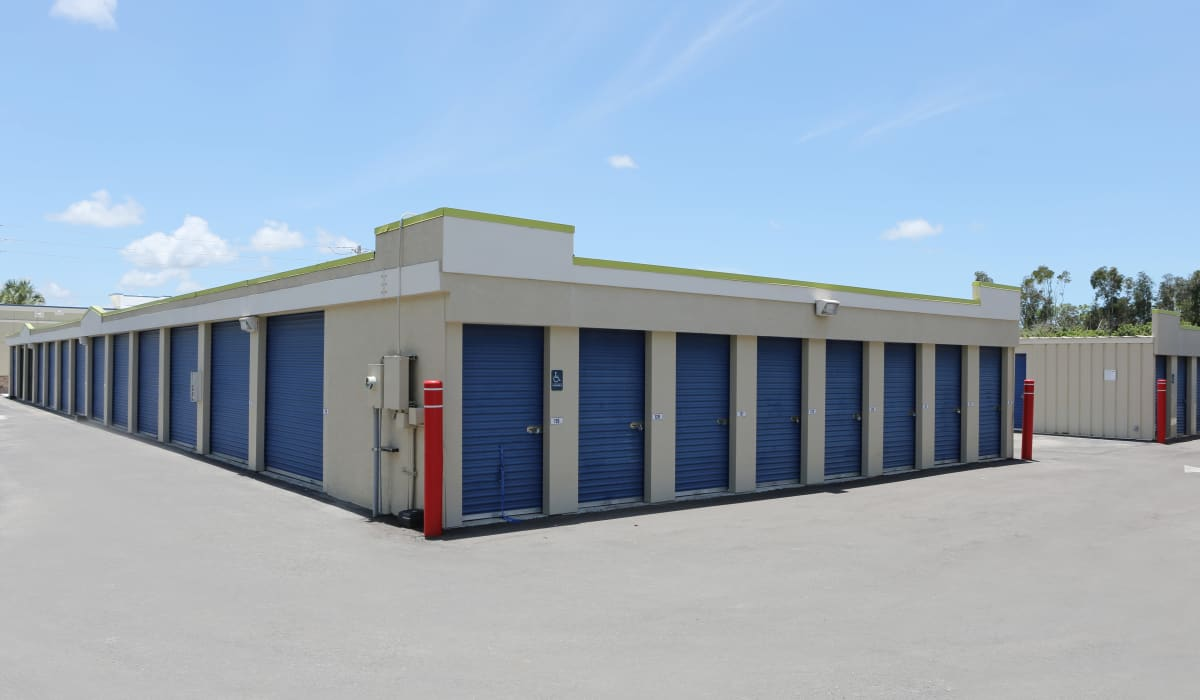 External units at Midgard Self Storage in Naples, FL