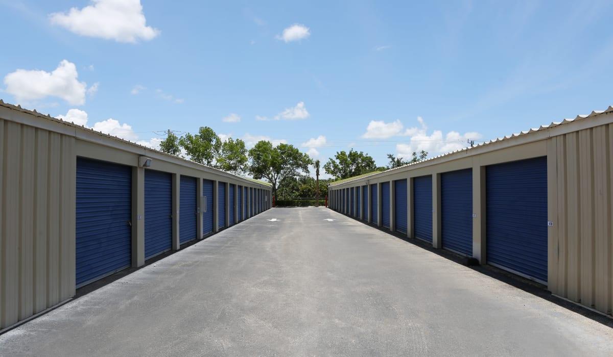 Drive up units at Midgard Self Storage in Naples, FL