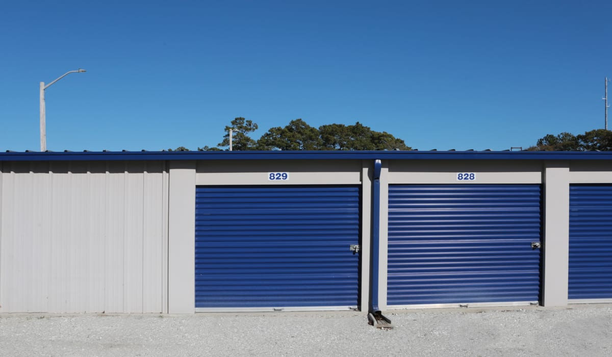 Drive up units at Midgard Self Storage in Murrells Inlet, SC