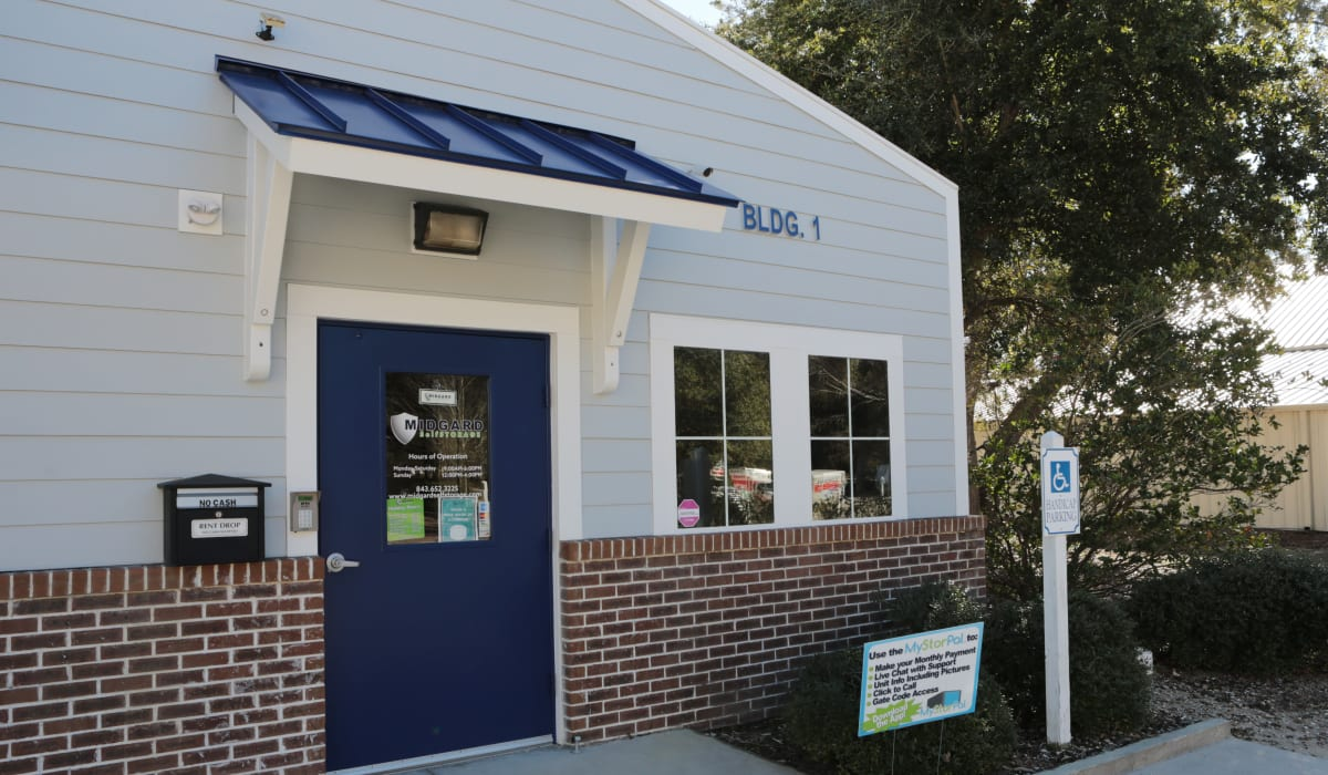 Front office for Midgard Self Storage in Murrells Inlet, SC