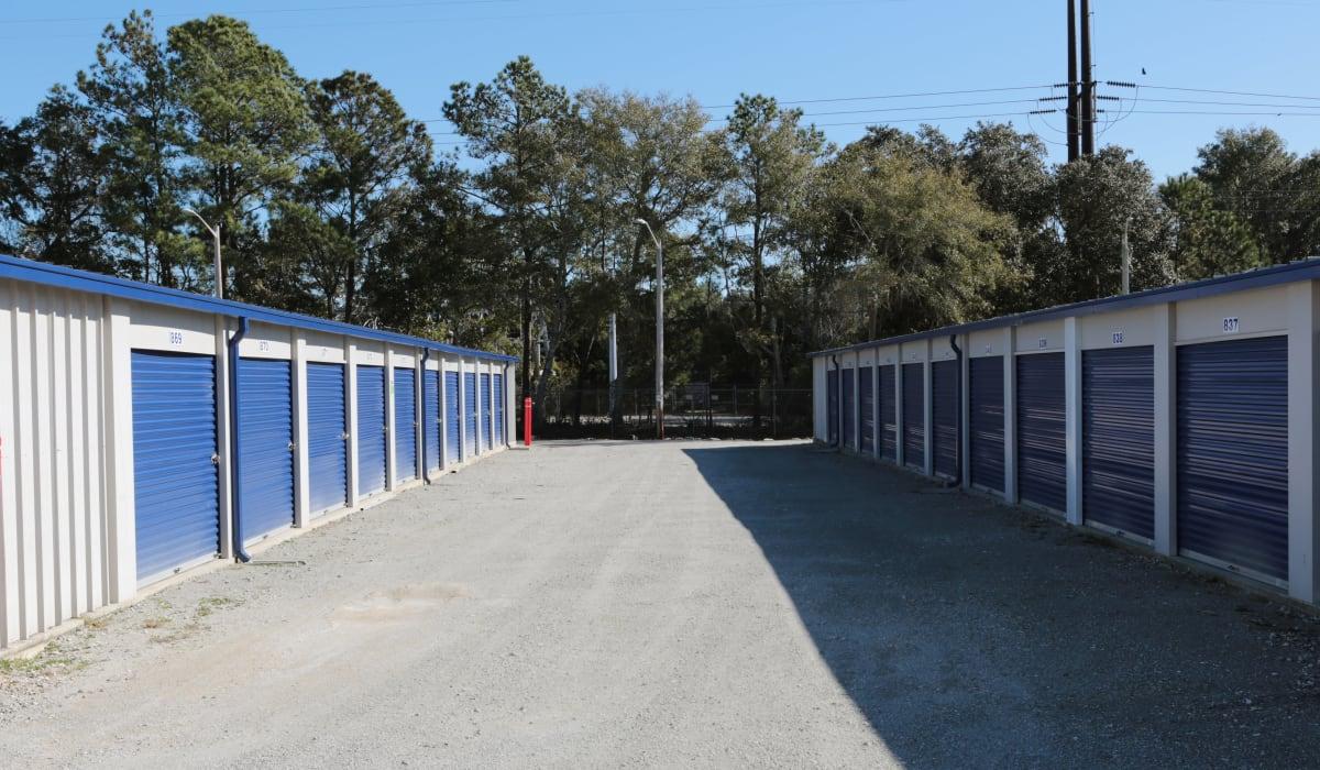Blue units at Midgard Self Storage in Murrells Inlet, SC