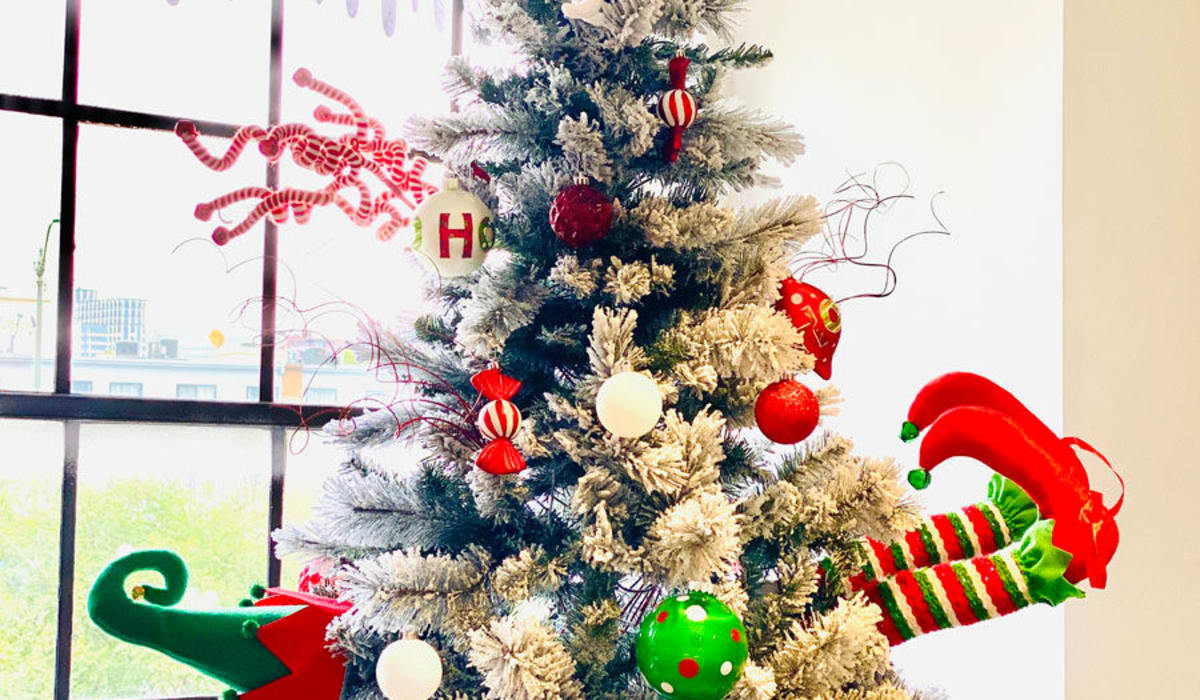 Christmas tree at E&S Ring Management Corporation in Los Angeles, California