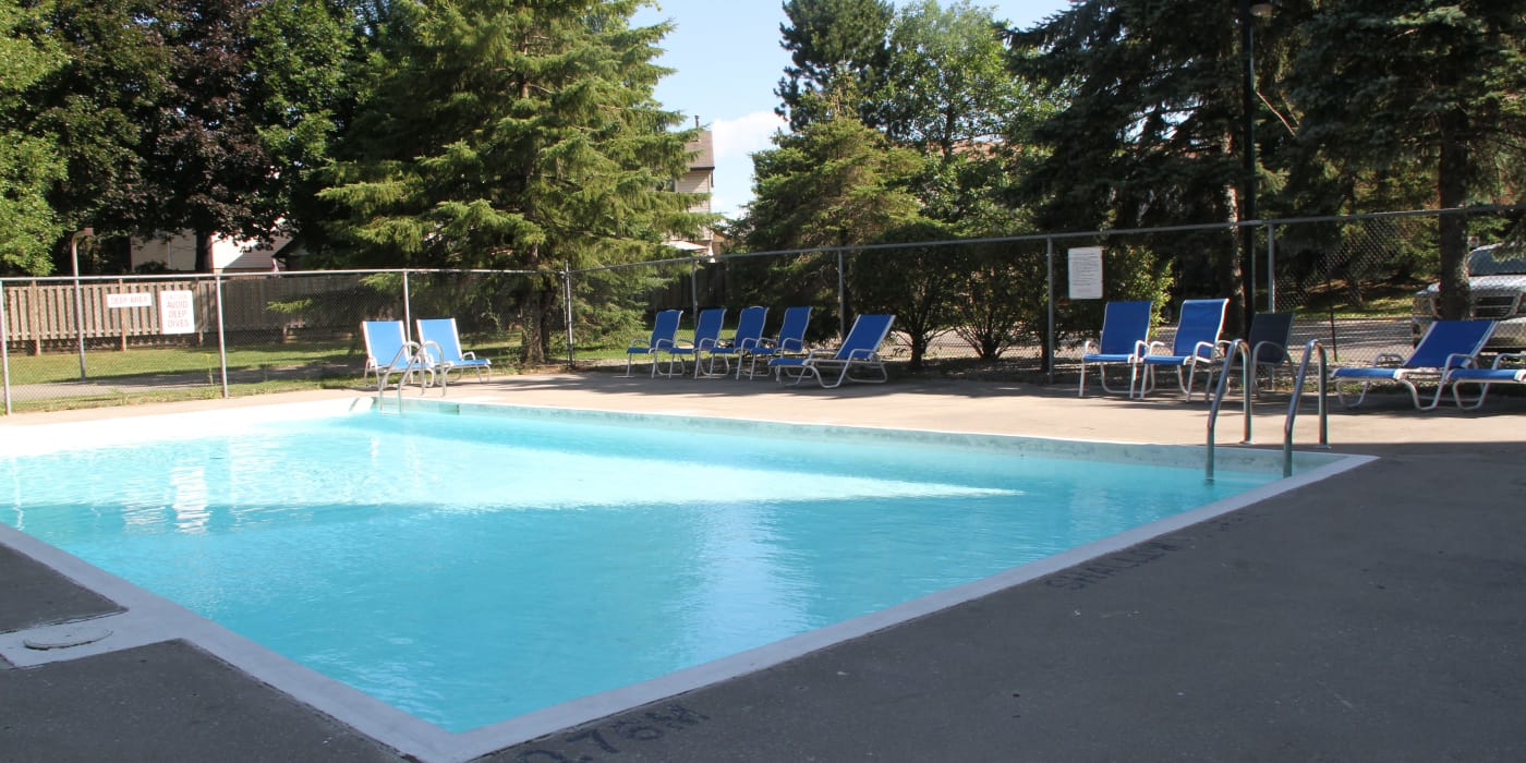 Beautiful pool at The Waterford Tower in Mississauga