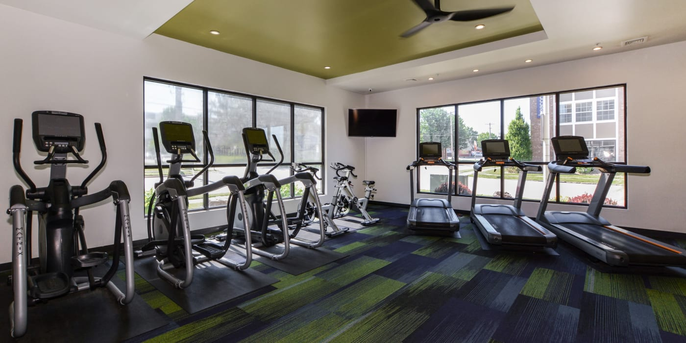 A gym at Beacon Springfield in Springfield, Missouri