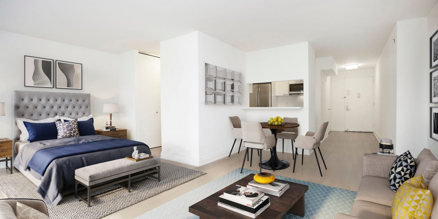 Spacious studio apartment with wood floors at The Ventura in New York, New York