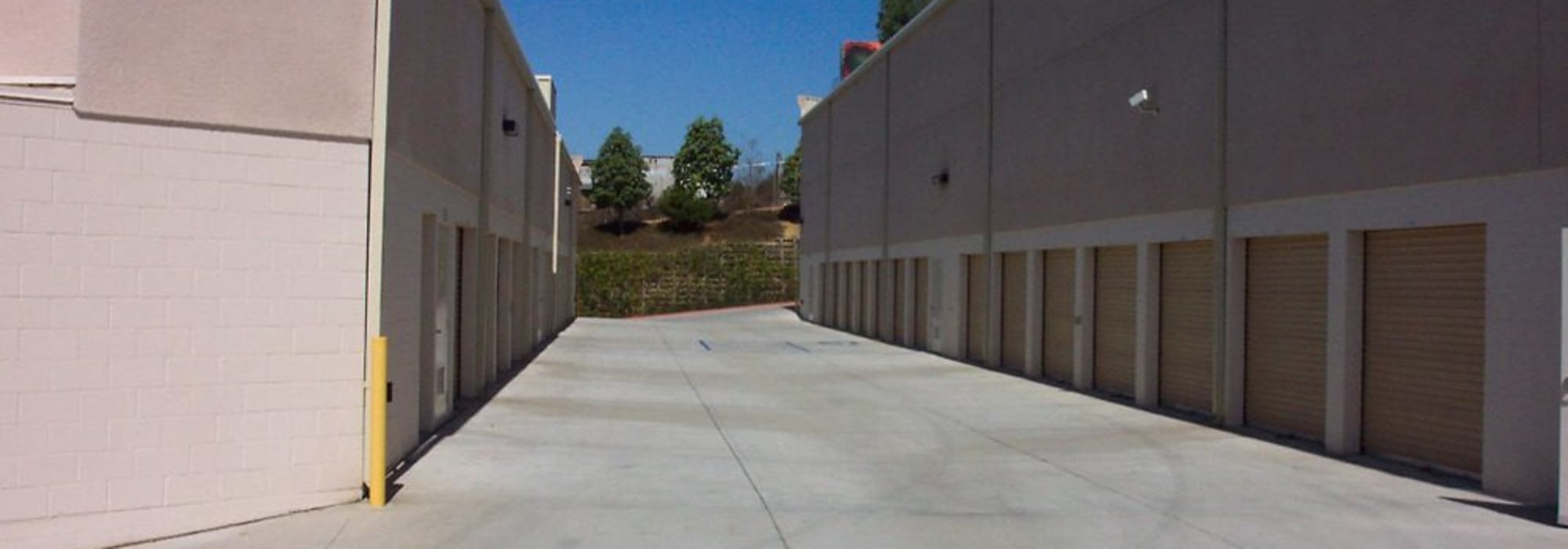 Outdoor units at Golden Triangle Self Storage in San Diego, California