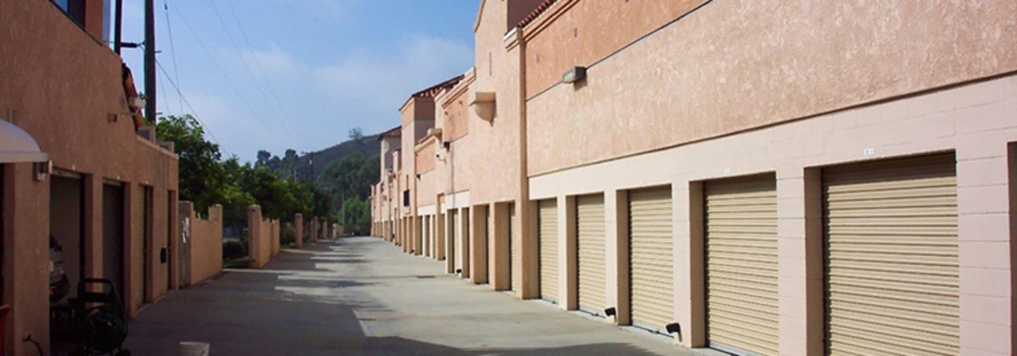 Outdoor units at North County Self Storage in Escondido, California