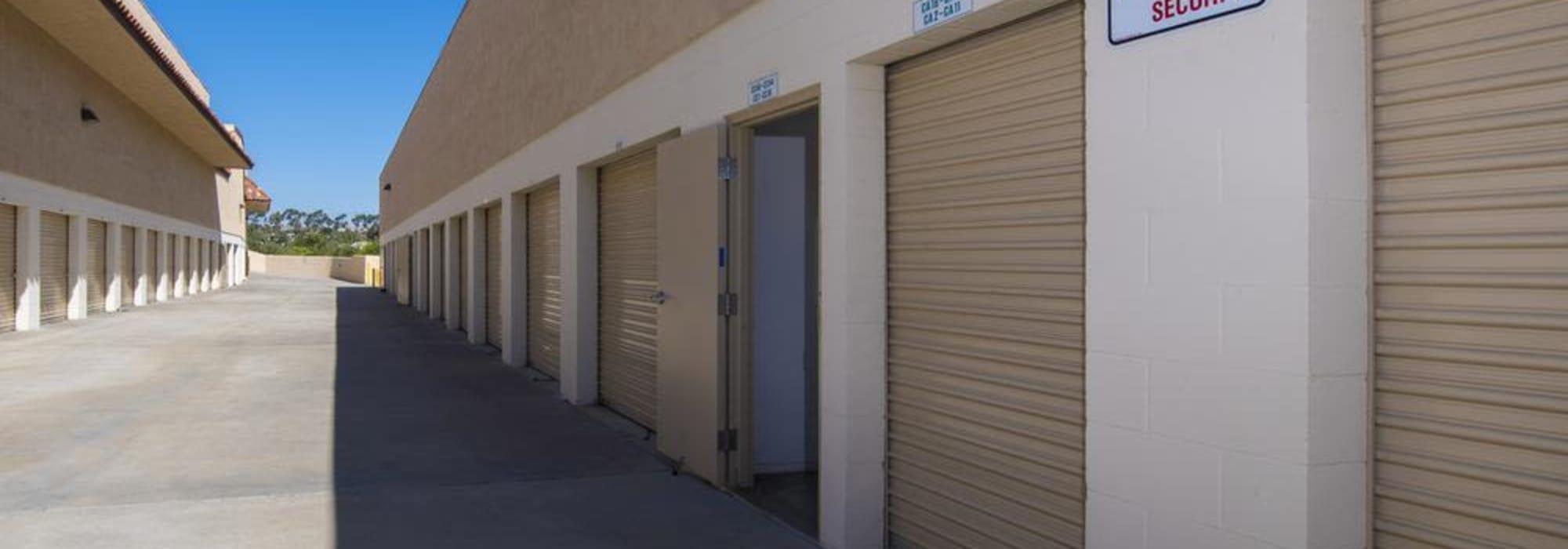 Outdoor units at Olivenhain Self Storage in Encinitas, California