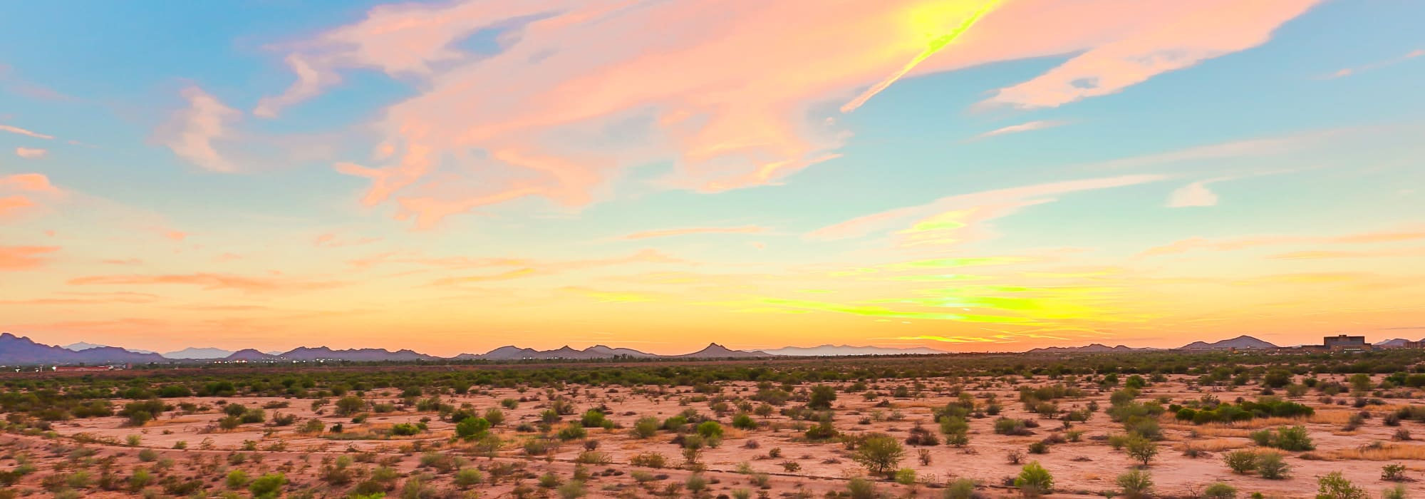 Breathtaking sunset view from Slate Scottsdale in Phoenix, Arizona