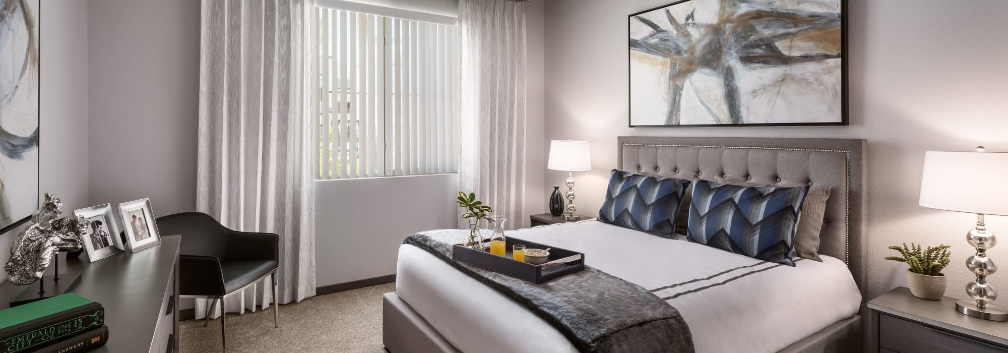 Luxury master bedroom at Aviva in Mesa, Arizona