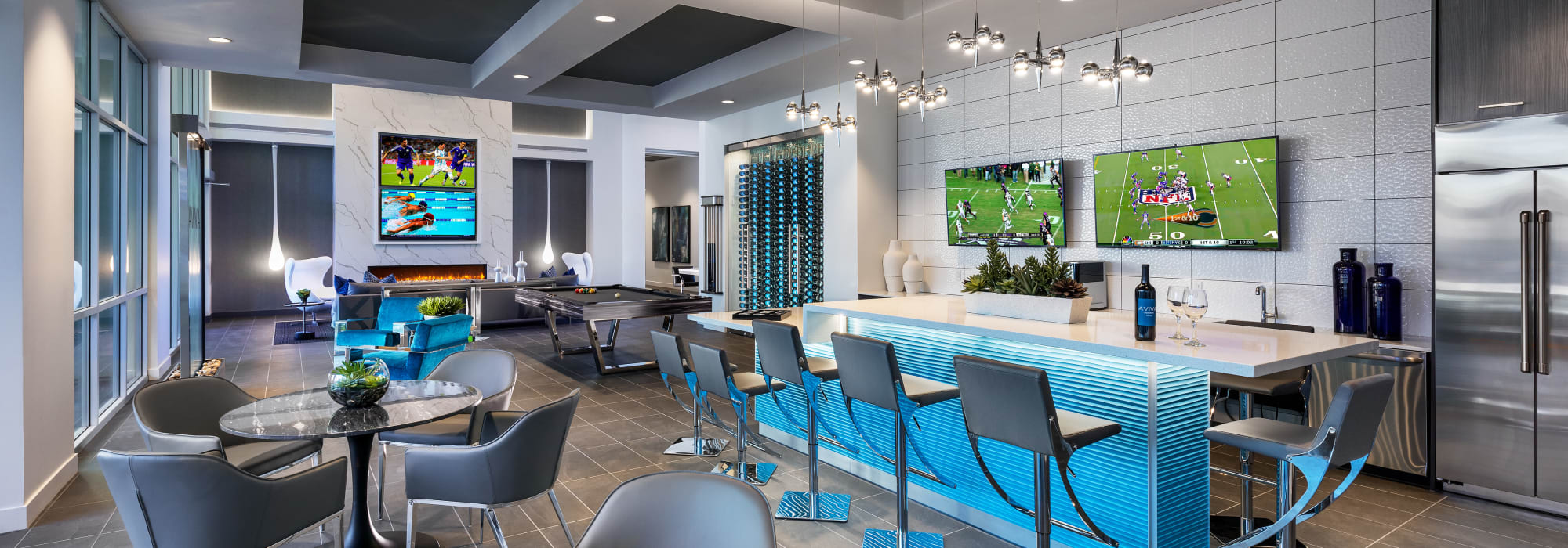 Spacious clubhouse to entertain friends and family at Aviva in Mesa, Arizona