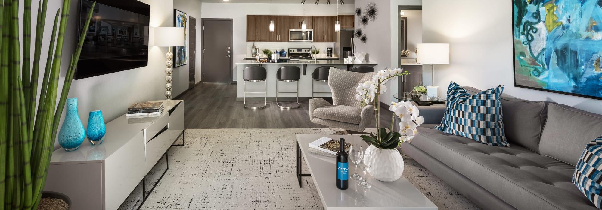 Spacious Living Room at Aviva in Mesa, Arizona