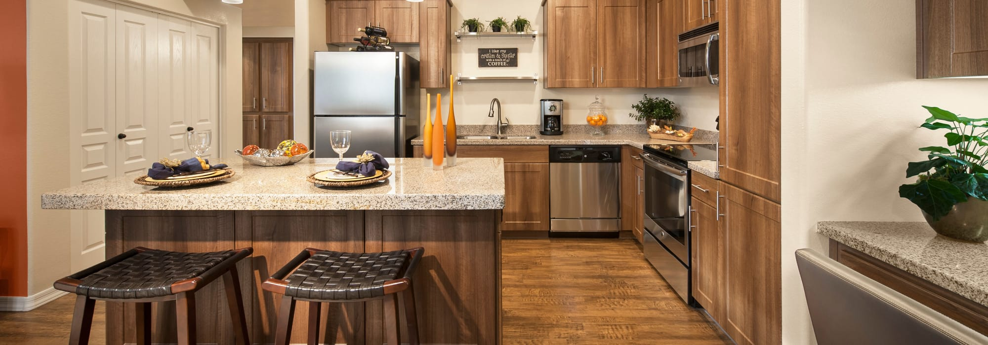 Spacious kitchen to entertain friends and family at San Capella in Tempe, Arizona