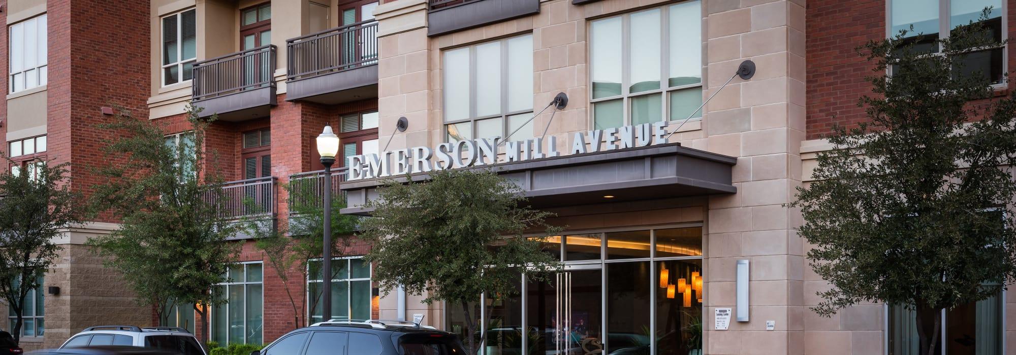 Entrance to Emerson Mill Avenue in Tempe, Arizona